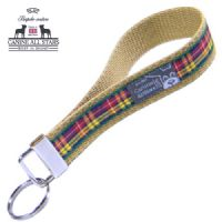 WRISTLET KEYCHAIN - AUTHENTIC SCOTTISH BUCHANAN TARTAN